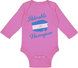 Cute Rascals Baby Long Sleeve Bodysuit Adorable Nicaraguan Nicaragua Boy & Girl Clothes