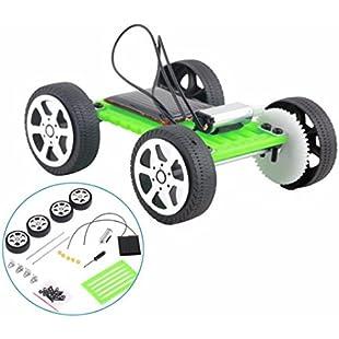 Xshuai  Self Assembly Car, 1 Set Mini Solar Powered Toy DIY Car Component Kit Children Educational Gadget Hobby Funny Toy (Green):Viralbuzz