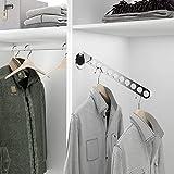 - Perchero Plegable de Acero para Interior de Armario vestidor - 6 ó 10 Prendas - para 10 Perchas