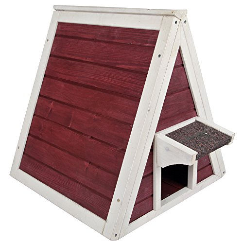 Petsfit Cat House for Outdoor Indoor Cats Weatherproof, Outside Feral Cat Shelter with Escape Door
