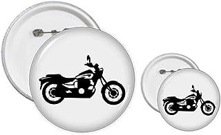 Kit de création de boutons et de badges mécaniques pour moto Noir