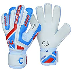 White, blue and red Renegade Talon Goalkeeper Gloves