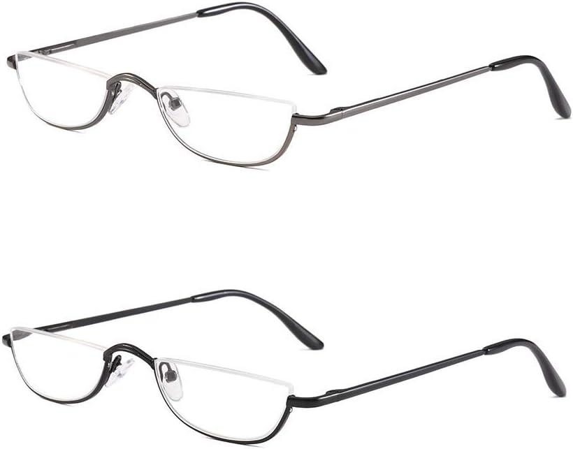 Ranking Max 73% OFF TOP10 KoKoBin Half Reading Glasses - 2 Frame Rim Glas Pairs Metal