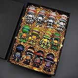 12 Unids / Set 7Cm Figuras De Teenage Mutant Ninja Turtles, Versión Q Personajes De Anime Acción PVC Anime Decoración Modelo Regalo (con Caja)