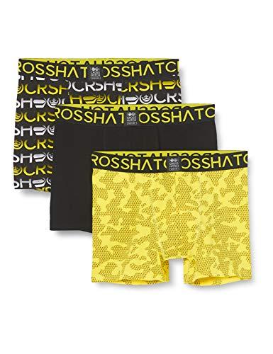 CrossHatch Herren Gradeling Boxershorts, Grell-Gelb, L