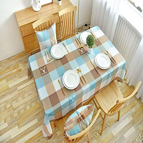 Home\'s Einfache Heimtextilien Tischdecke Staubtuch Rechteckigen Westlichen Tischdecke Stoff Abwischen Tischdecke100X130CM