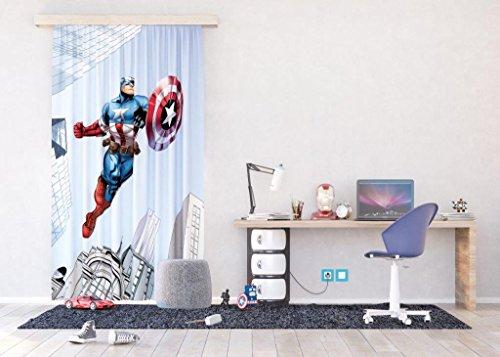 AG Design Marvel, Gardine/Vorhang, FCPL 6127, 140x245 cm - 1 Teil, Stoff, Multicolor, 0,1 x 140 x 245 cm