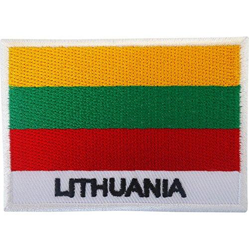 Aufnäher mit Litauen-Flagge, zum Aufbügeln, bestickt