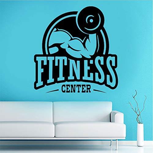 Gimnasio etiqueta de la pared gimnasio vinilo adhesivo deportes hogar desmontable decoración 42x43 cm