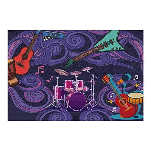 GOSMAO Puzzle Personalizado con Foto 1000 500 300 120 Piezas,Guitarra Musical Rompecabezas de Madera, Diseño Desde Cualquier Imagen Puzzles