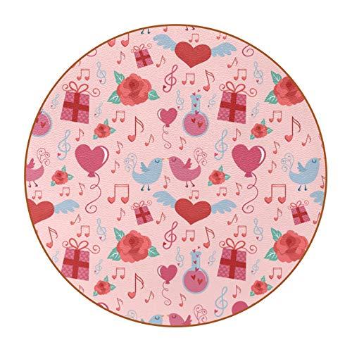 Juego de 6 posavasos de diseño único para posavasos de mesa con parte trasera antideslizante, juego de regalo de San Valentín, diseño retro de pájaros