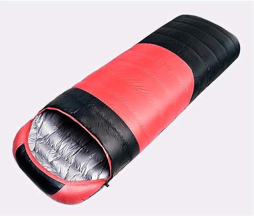 LEEPY Sac de Couchage pour Camping en Plein air, Sac de Couchage épaississant léger et imperméable 3-4 Saisons pour Adultes,rouge