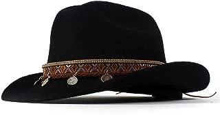 SXBag 100% Wool Vintage Style Unisex Wool Blend Wide Stiff Brim Western Cowboy Hats Tassel Bohemia Ribbon Cowgirl Caps`