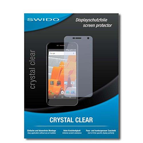 SWIDO Schutzfolie für Wileyfox Spark+ [2 Stück] Kristall-Klar, Hoher Festigkeitgrad, Schutz vor Öl, Staub & Kratzer/Glasfolie, Bildschirmschutz, Bildschirmschutzfolie, Panzerglas-Folie