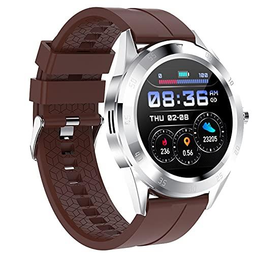APCHY Smart Watch Reloj Inteligente for Hombre,Llamadas Bluetooth Chat De Voz Rastreador De Fitness con Presión Arterial Monitor De Sueño Ritmo Cardíaco, 1.54'Trackers De Actividad,B