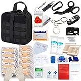 GRULLIN Kit de Supervivencia de Primeros Auxilios, 342 Piezas Tactical Molle IFAK Pouch Kit de Emergencia al Aire Libre Oficina en el hogar Coche Senderismo Caza Camping Aventura (Ejercito Verde)