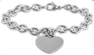 Brillibrum ID-armband trottoarkedja rostfritt stål med graveringsplatta silver guld läderarmband partner smycken vänskapsa...