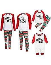 K-Youth Pijamas Familiares Navideñas Ropa para Padres e Hijos Pijama de Navidad Familiar Conjuntos Bebe Niño Navidad Mameluco Bebé Recien Nacido Niña Ropa de Dormir Mujer Hombre