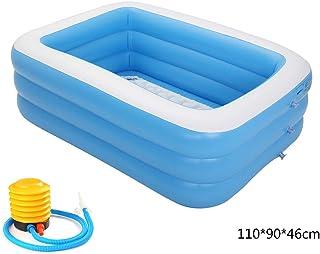 jiheousty Piscina Inflable Centro de natación Familiar Natación Inflable Piscina Infantil Piscina Infantil Rectangular Adecuado