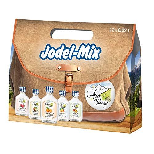 Alpenschnaps Jodel-Mix 12 x 0,02 Liter in Tragetasche