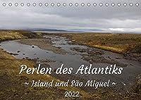 Perlen des Atlantiks - Island und São Miguel (Tischkalender 2022 DIN A5 quer): Landschaftsfotos von Island und den Azoren (Monatskalender, 14 Seiten )