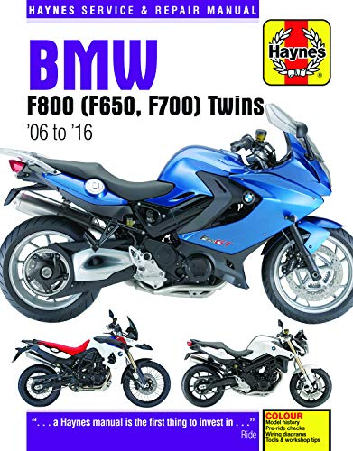 BMW F800 (F650, F700) Twins: '06 to '16 (Haynes Service & Repair Manual)