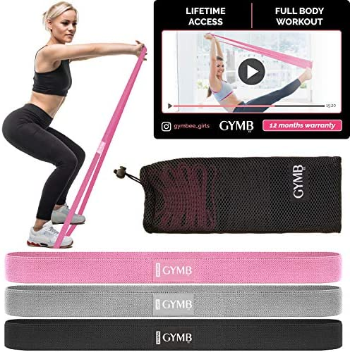 3 Fabric Long Resistance Bands Set Pull Up Bands Full Body Workout Bands Resistance for Women product image