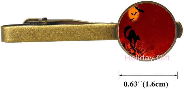 Cat Moon Today's only Bats Halloween Ranking TOP7 Chirstmas Anniversary Clip-Handmade Tie