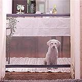 hangong El Aislamiento del hogar Plegable del Perro casero de la Puerta Aislamiento Neto de obstáculos Seguridad y protección Firma Neto Valla (Color : Black, Size : 110 * 75cm)