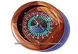 Dal Negro 36cm Mahogany Roulette Wheel...