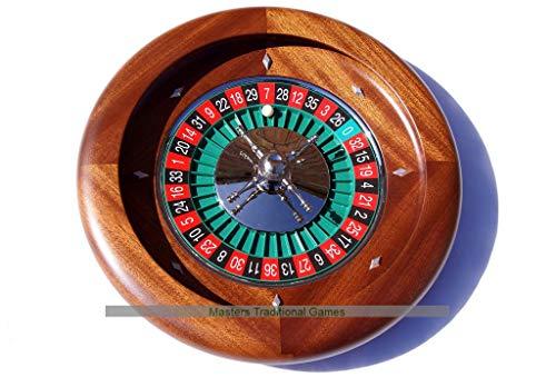 Dal Negro 36cm Mahogany Roulette Wheel