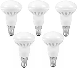 Bombillas LED CYLED 6 W R50 E14, equivale a una bombilla incandescente de 45 W, E14, 480 lm, blanco cálido 3000 K, ángulo de haz 120D, 5 unidades
