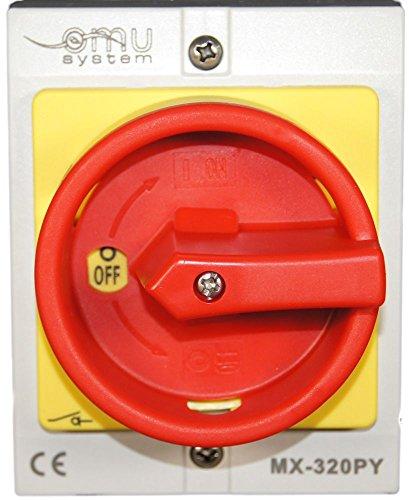 20A Hauptschalter Lasttrennschalter Not-Aus-Schalter MX320PY
