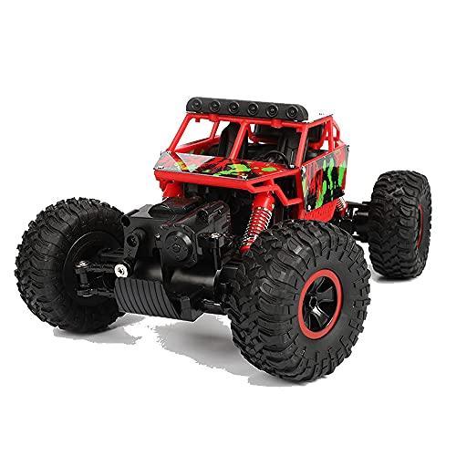 ADSVMEL Red Desert Bigfoot Off-Road Car con función de frenado 2.4Ghz Radio Control Remoto All Terrains Crawler Buggy electrónico Coche de Juguete de Alta Velocidad para niños niñas niños
