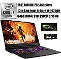 "2020 Latest MSI GE75 Raider 17 Gaming Laptop I 17.3"" FHD IPS 144Hz I 10th Gen Intel Hexa-Core i7-10750H I 64GB DDR4 2TB SSD + 2TB SSHD I 6GB RTX 2060 RGB Backlit Win 10 + Delca 16GB Micro SD Card"