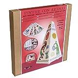 Arenart | 1 Lámpara Azteca 19x19x35cm | para Pintar con Arenas de Colores | Manualidades para Adultos y Jóvenes | Dibujo Fácil | +9 años