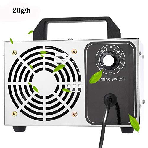 ZZQH Generador de Ozono Casero, Purificador de Aire Máquina de Ozono Móvil para Esterilizador de Aire Desinfectante Purificador (20000 MG/h)