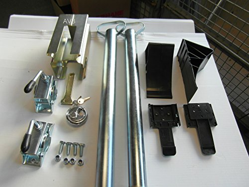 AVB Paket Anhänger Stützen 700 mm, ALBE Safety-Box , Keile schwarz, Montageschrauben