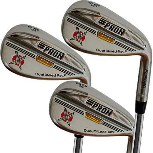 Japan Pron TRG Chrome Finish Wedge Golf Club Set,2020 Model,52 56 60 Degree,10 12 8 Bounce,Pack of 3