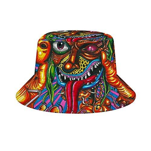 CODOYO Bucket Hats Trippy Acid Monste Gorra Ajustable con Visera para Exteriores para Mujeres y...