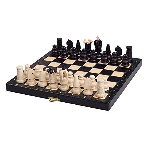 Albatros Schachspiel KINGDOM, Feldgröße 28cm x 28cm, Handarbeit aus Holz