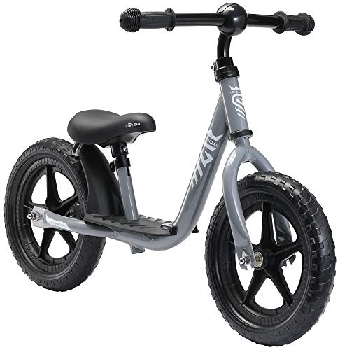 """LÖWENRAD Bicicleta sin Pedales para niños y niñas a Partir de 3 - 4 año, Bici 12"""" Ligero (3KG) con sillín y manubrio Regulable, Gris"""