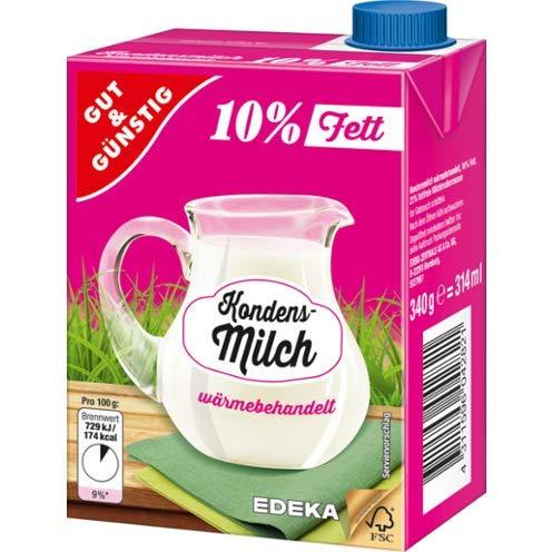Gut und Günstig, Kondensmilch 10%, 16er Pack, 16 x 340 g