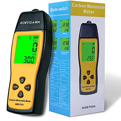 Carbon Monoxide Meter Detector, Handheld CO Detector, Portable CO Gas Leak Detector, Gas Analyzer, High Precision Detector, CO Gas Monitor Tester 0~1000ppm for Home, Tunnels, Steel Works Wait