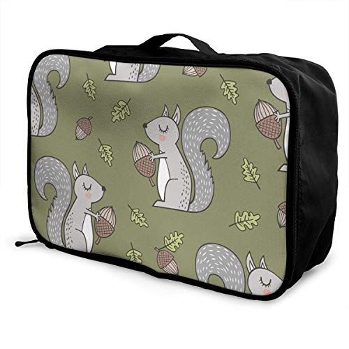 Qurbet Bolsas de Viaje, Portable Luggage Duffel Bag Squirrel Travel Bags Carry-on...