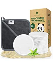 Discos Desmaquillantes Reutilizables, Algodones Desmaquillantes Lavables y Ecologicos Hechos de Bambú y Algodón para Removedor, con Bolsa de Lavado, Aptos Para Todo Tipo de Pieles