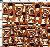 Rostbraun, Rot, Abstrakt, Minimalistisch, Formen, Winter