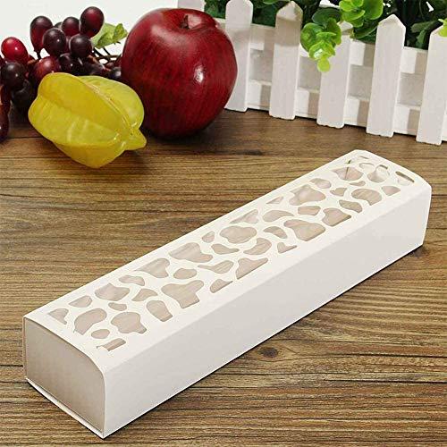 10pcs Macarons Verpackung Kiste, Cookie Verpackung Kiste,Schokolade Kiste, Weiß Rechteckig Hohles aus Macarons Aufbewahrungsschachtel - Weiß, free size