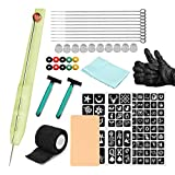 KTOO Hand Poke and Stick Tattoo Kit DIY Tattoo Supply Ink s and Inkbox Tattoo Needles Set Includes 3RL / 5RL / 7RL / 9RLSupply Ink s