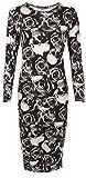 SUCCI SILVO Vestido maxi de manga larga para mujer, elástico, liso, estampado, talla grande 8-26